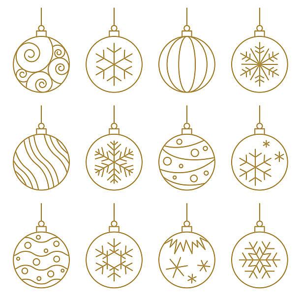 Christmas balls Christmas balls. Vector Graphic. EPS10 and alternate formats (hi-res jpg, png, pdf). christmas ornament stock illustrations