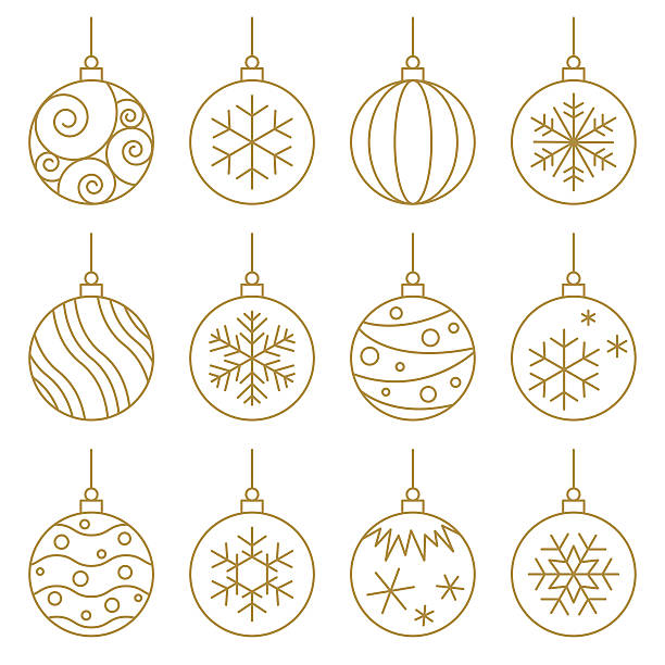stockillustraties, clipart, cartoons en iconen met christmas balls - kerstballen