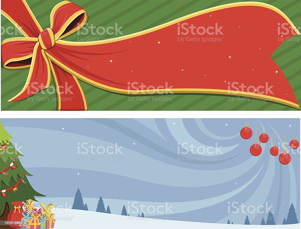 Christmas Banner design royalty-free christmas banner design stock vector art & more images of bell