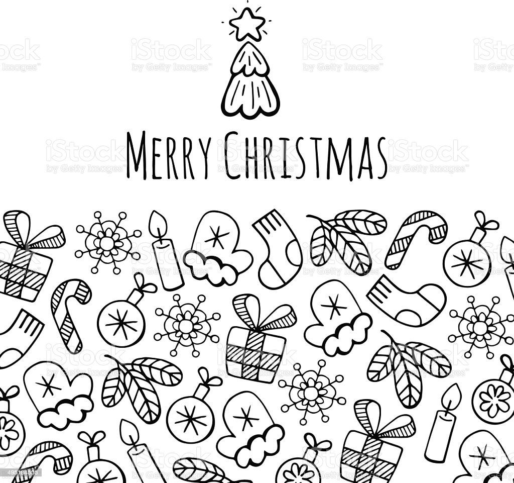 Christmas banner sketch set vector design illustration. Christma
