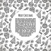Christmas banner sketch set vector design illustration. Christma