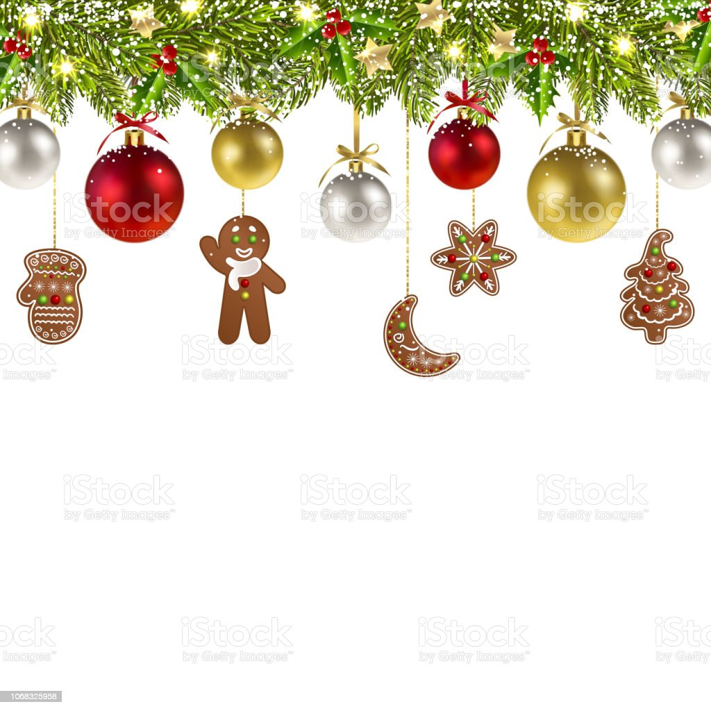 Christmas Banner With Christmas Gingerbread Stock Illustration Download Image Now Istock You can download free christmas png images with transparent backgrounds from the largest collection on pngtree. christmas banner with christmas gingerbread stock illustration download image now istock