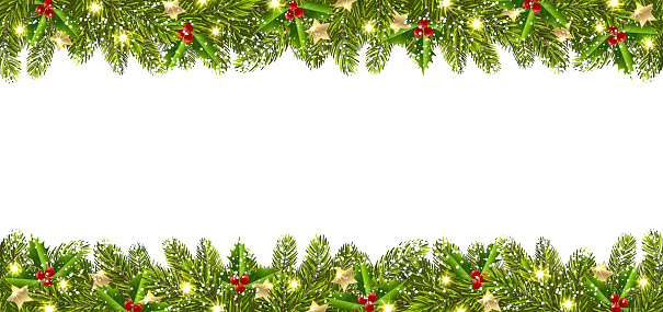 Christmas Banner With Christmas Tree Garland Stock Illustration Download Image Now Istock Throwing a candlelight service this holiday season? christmas banner with christmas tree garland stock illustration download image now istock