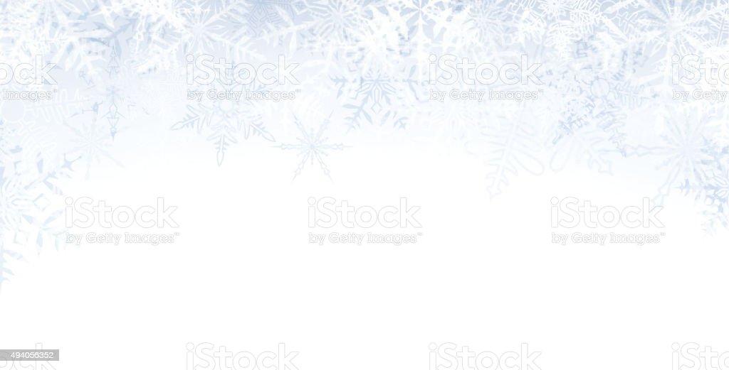 Christmas banner with crystallic snowflakes vector art illustration