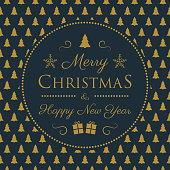 Christmas banner with festive ornaments and greetings. Vector.