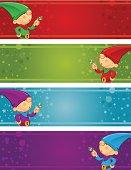 Christmas Banners - Elf Mistletoe