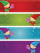 Christmas Banners - Elf Present