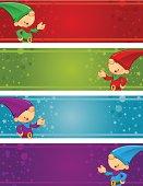 Christmas Banners - Elf Presenting
