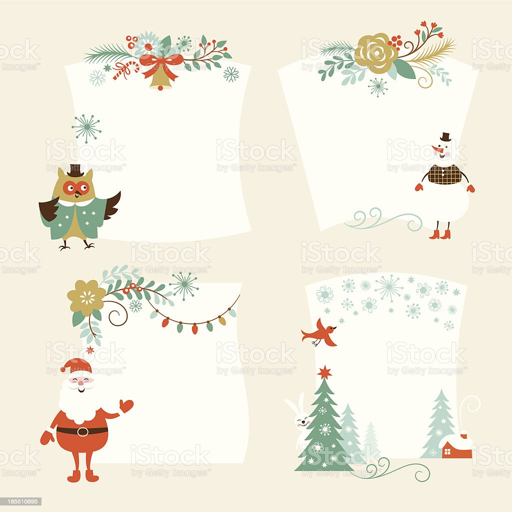 Christmas banners for Christmas cards royalty-free stock vector art