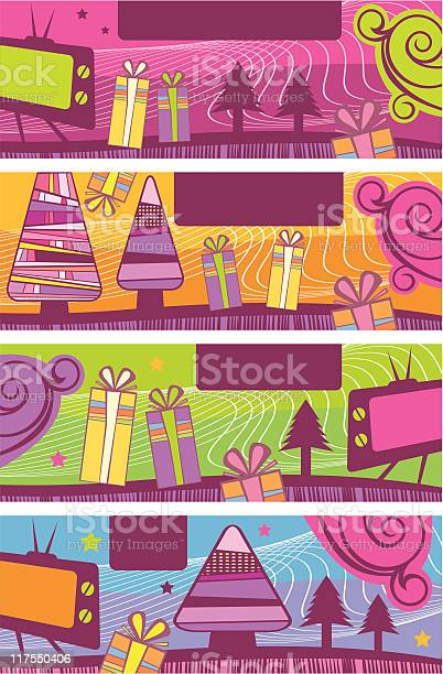 Christmas Banners Stock Illustration - Download Image Now
