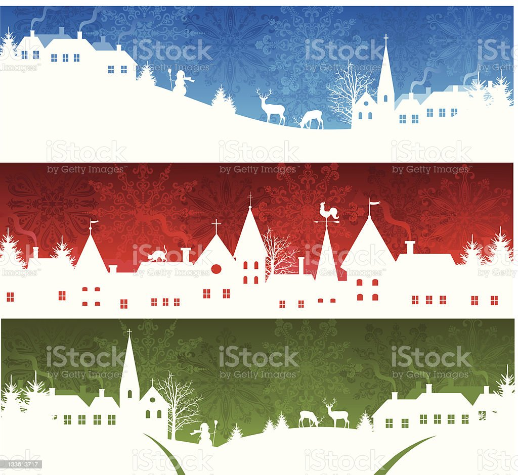 Christmas banners. vector art illustration
