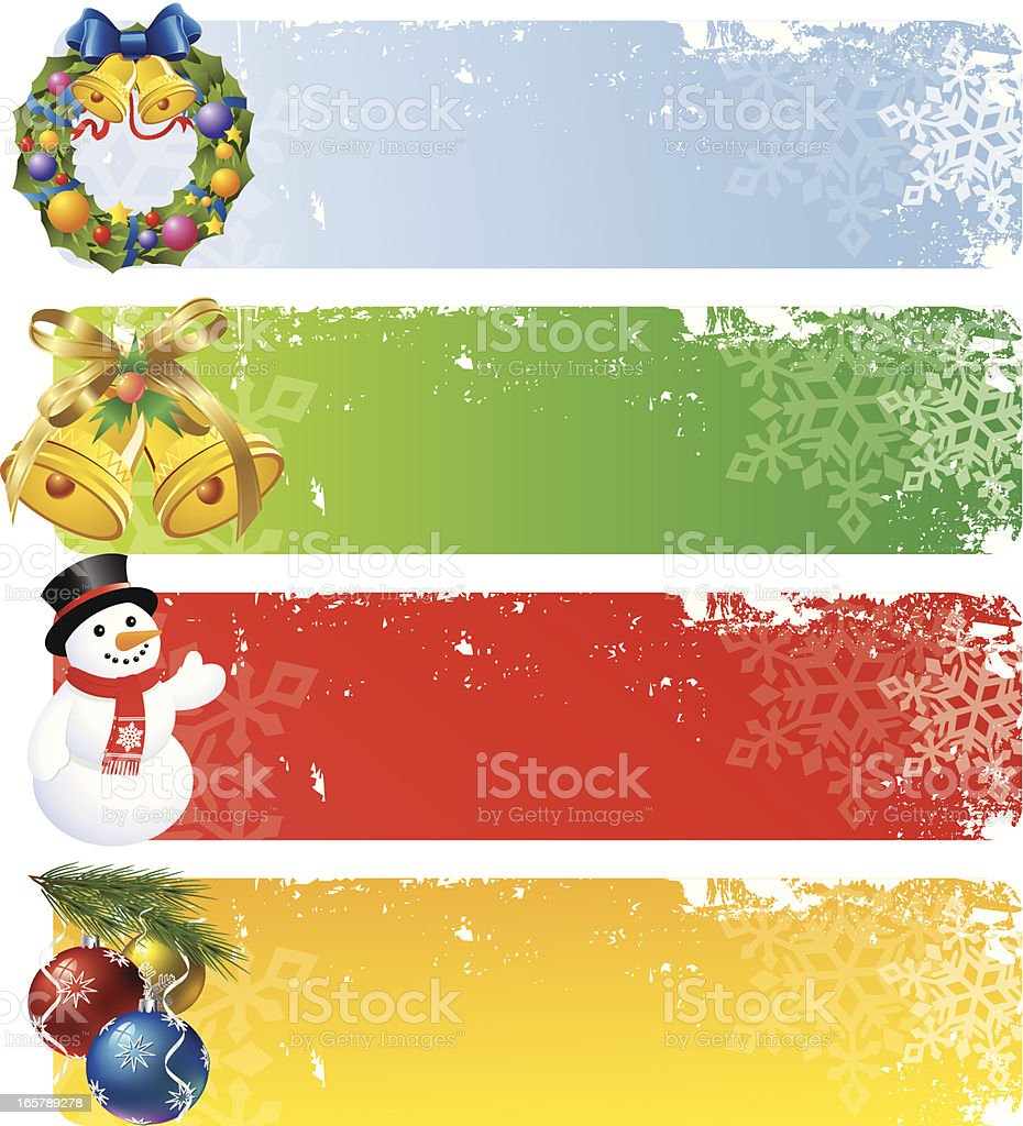 Christmas Banners vector art illustration
