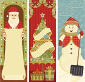 Christmas Banners with room for your text.