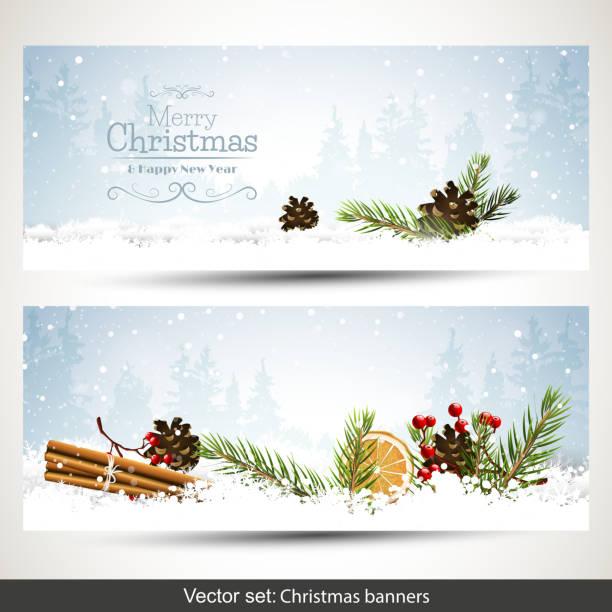 christmas banners - holidays and seasonal background stock illustrations