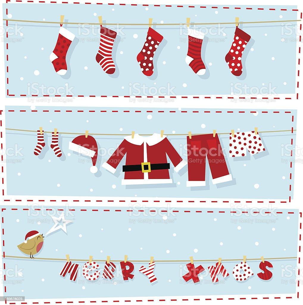 Christmas banners, xmas stocking & santa claus costume royalty-free christmas banners xmas stocking santa claus costume stock vector art & more images of animal markings