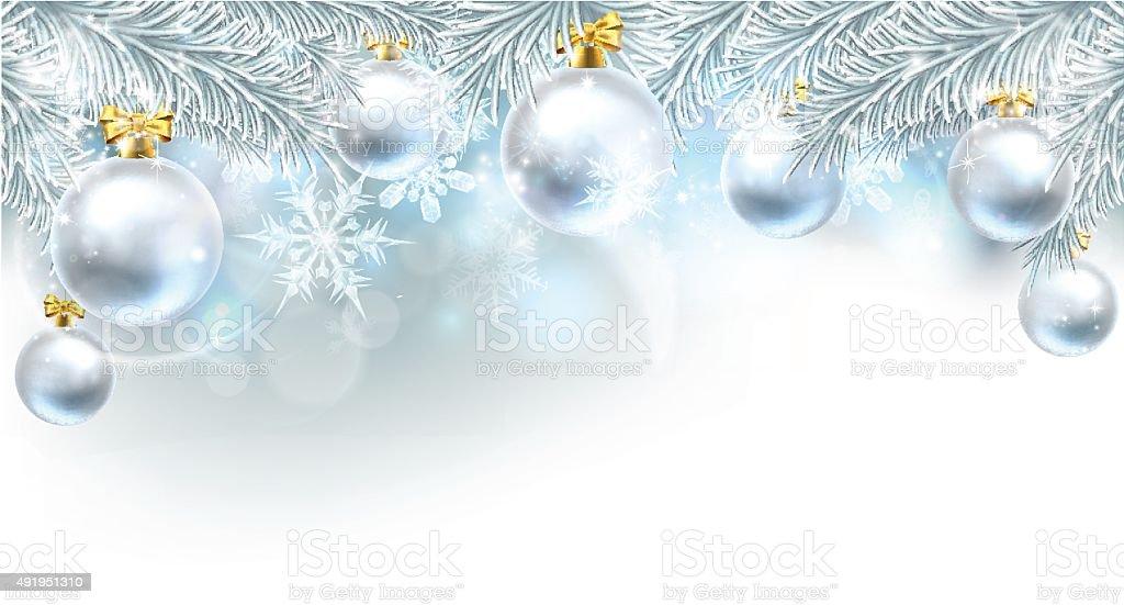 Christmas Bauble Background Top Border Stock Vector Art