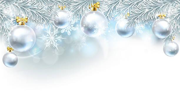 bauble 背景の上のクリスマスのボーダー - ホリデーシーズンと季節のフレーム点のイラスト素材/クリップアート素材/マンガ素材/アイコン素材