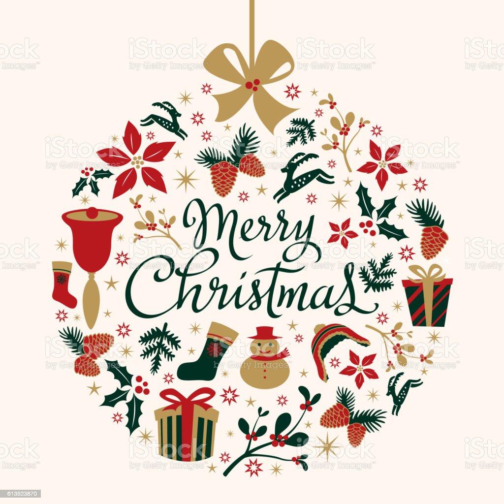 Christmas Bauble Decoration vector art illustration