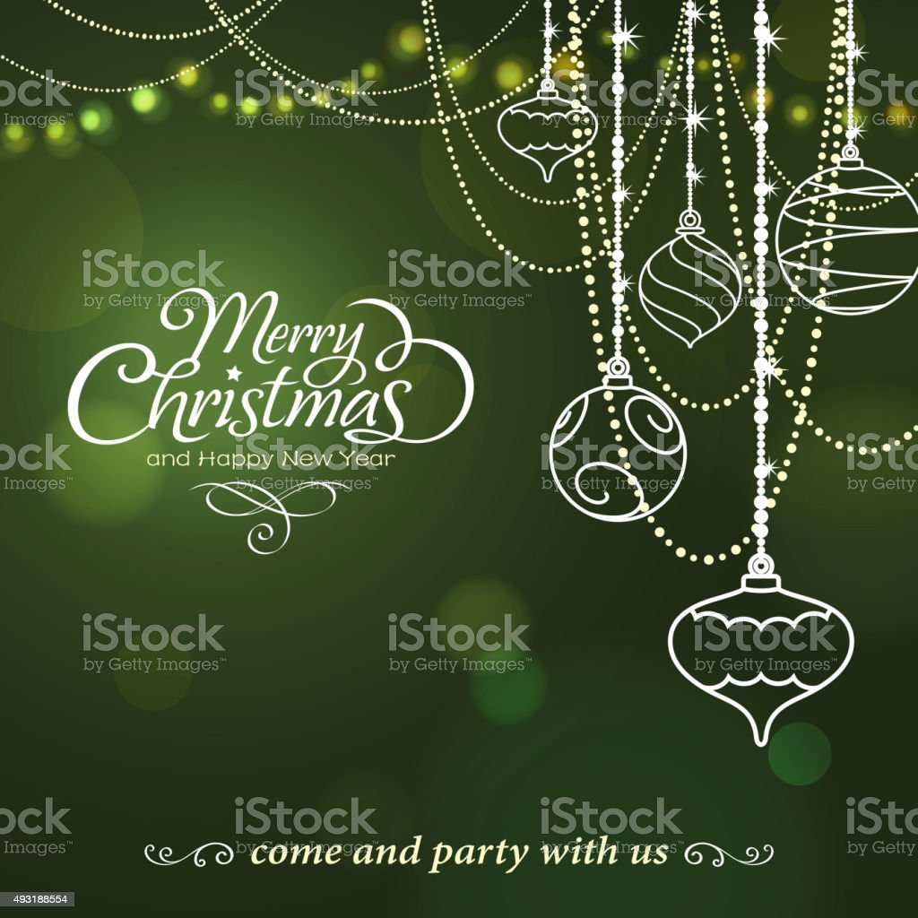 Christmas bauble graphic elements vector art illustration