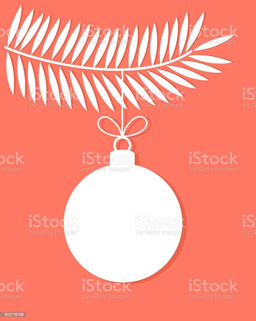 Christmas bauble vector vector art illustration