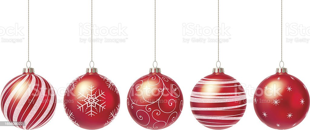 Christmas baubles vector art illustration