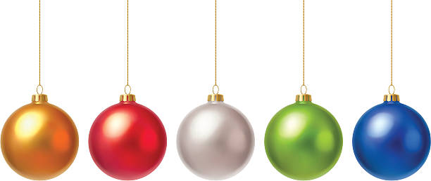 stockillustraties, clipart, cartoons en iconen met christmas baubles - kerstballen