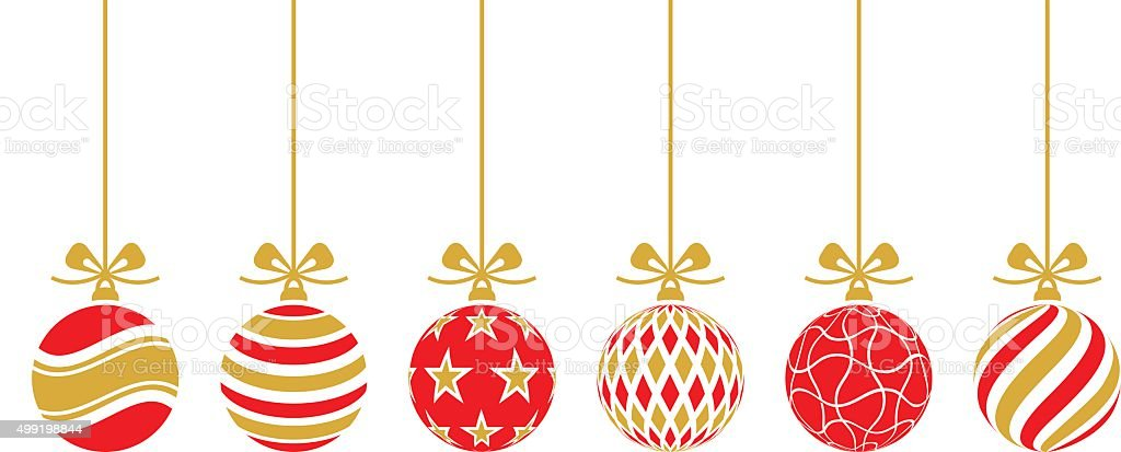 Christmas Baubles.Christmas Baubles Vector Set Stock Illustration Download Image Now