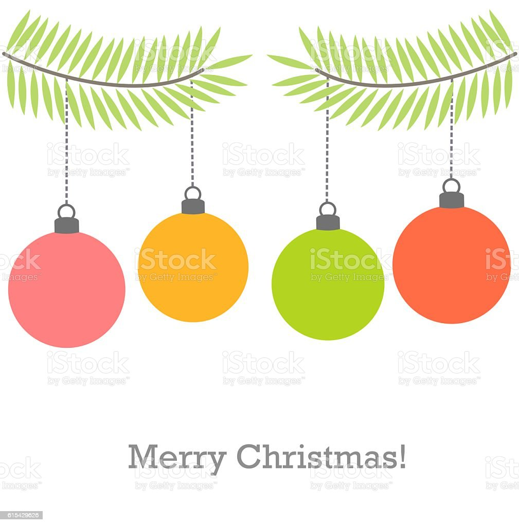 Christmas baubles vector vector art illustration