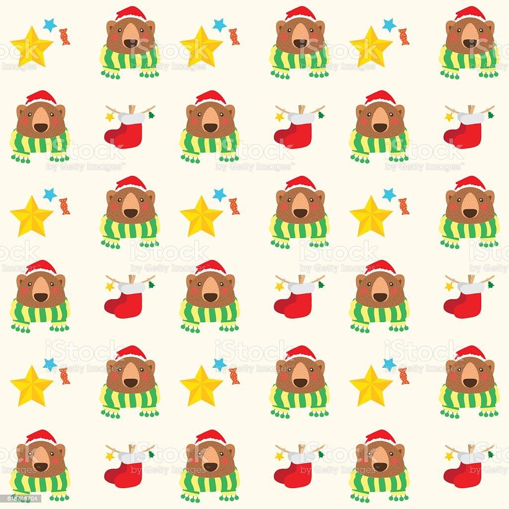 Christmas Bear Pattern Stock Vektor Art Und Mehr Bilder Von