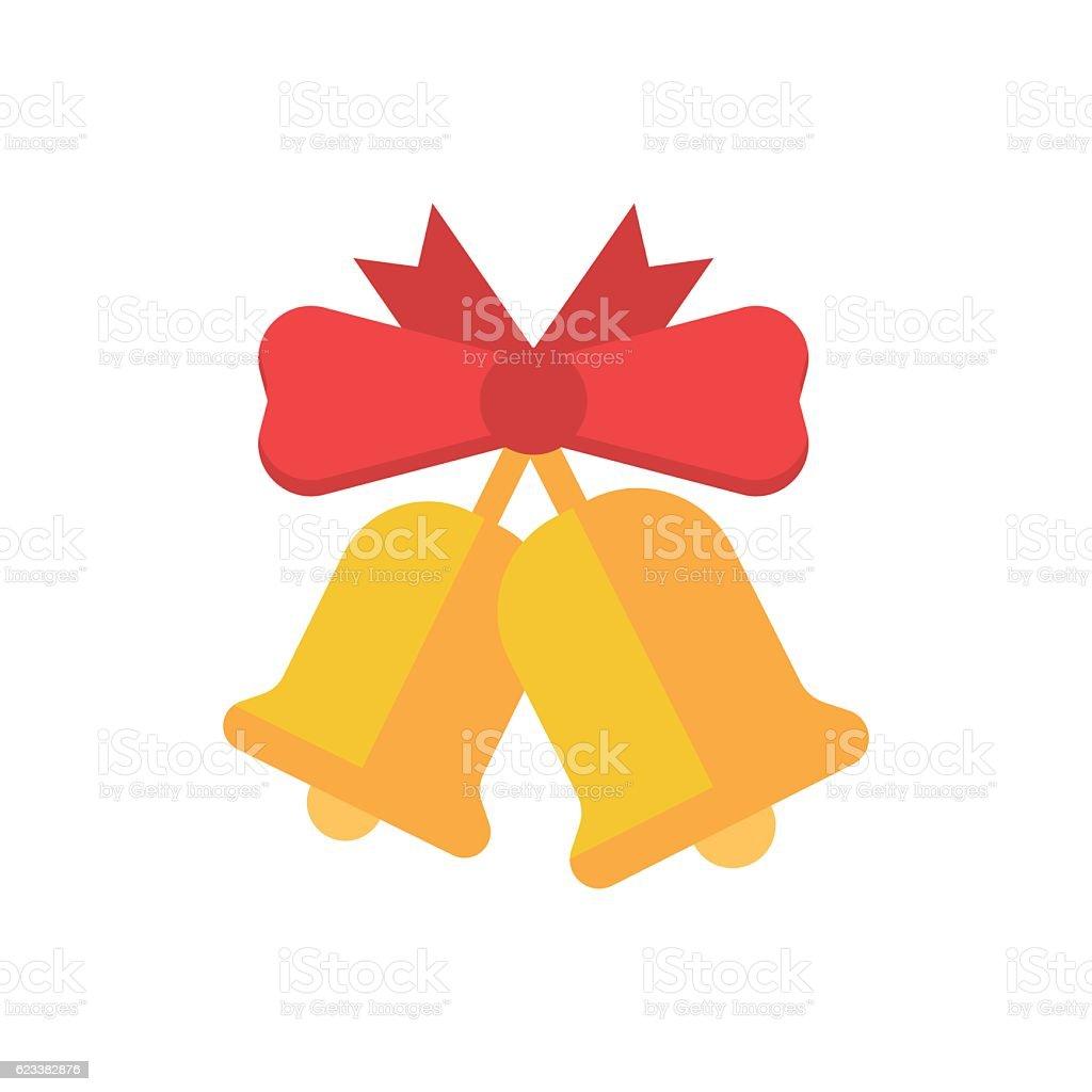 Christmas Bell Icon vector art illustration