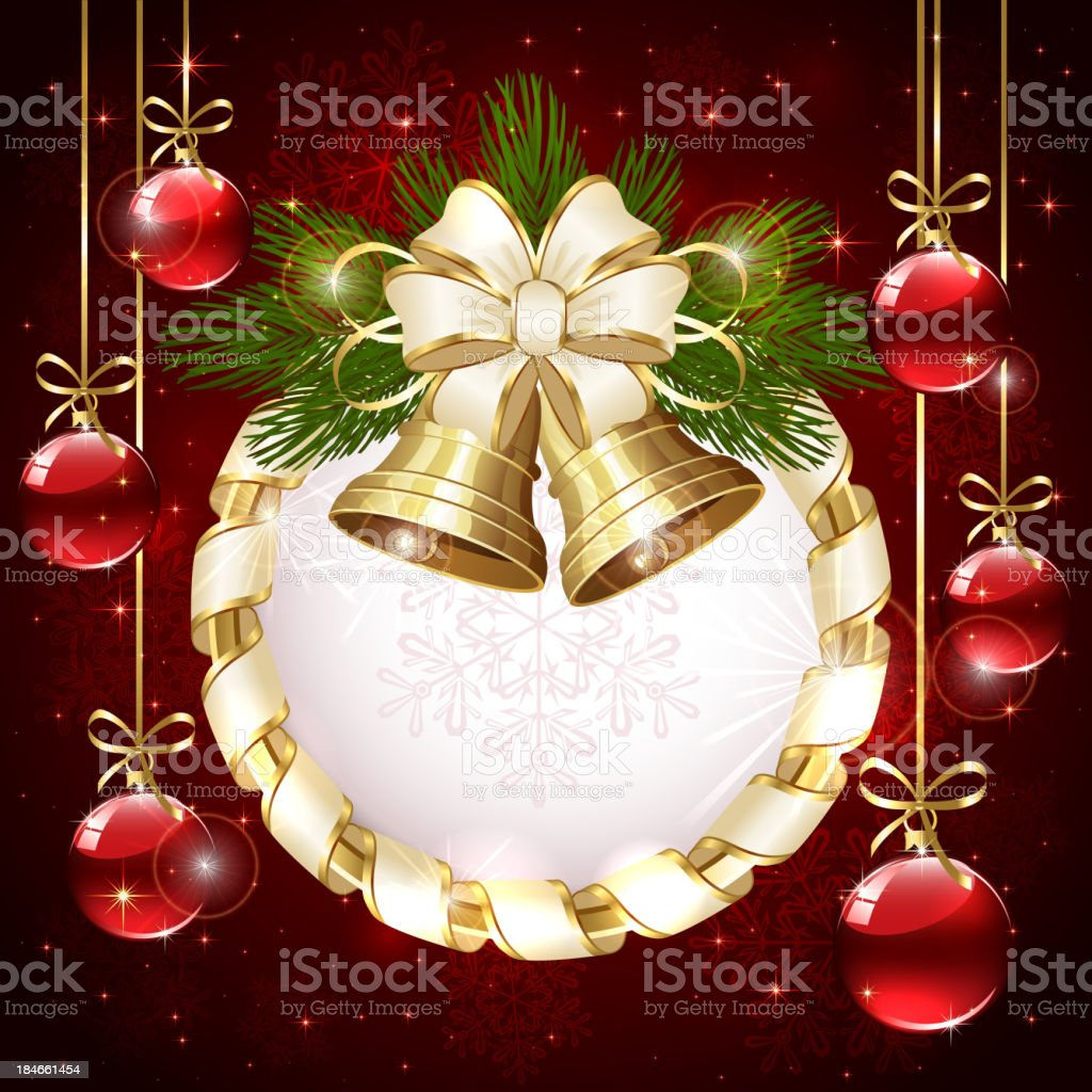 Christmas bells and baubles royalty-free stock vector art