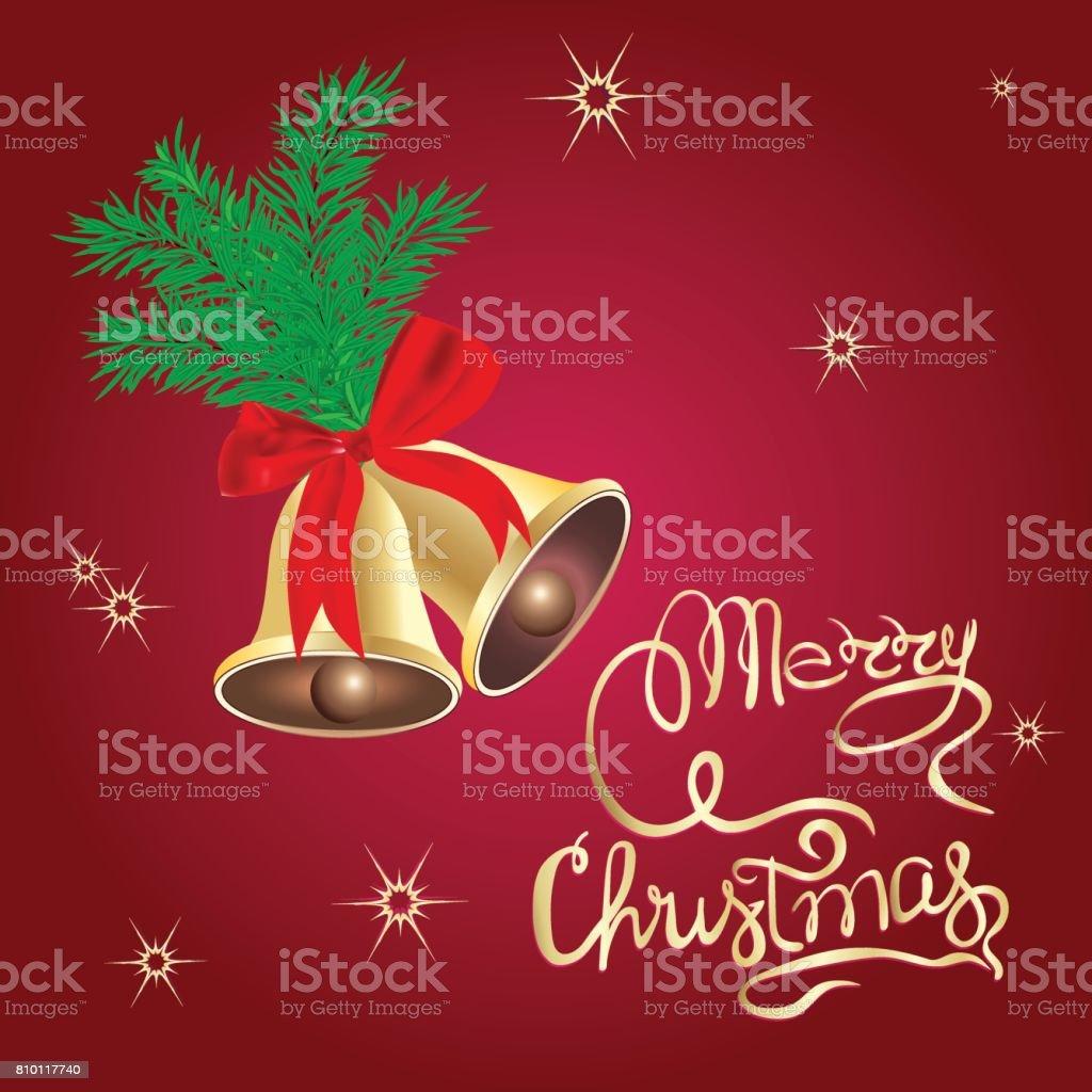 Plantilla Cartel De Navidad De Feliz Navidad Campanas - Arte ...