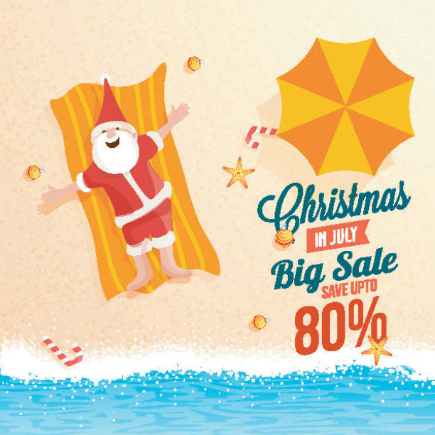 Christmas In July Royalty Free Images.Best Christmas In July Illustrations Royalty Free Vector