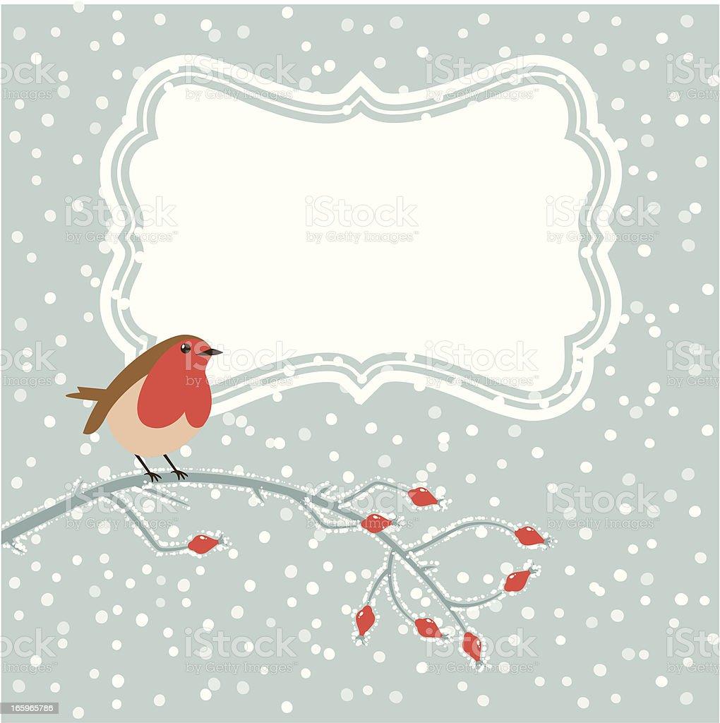 Christmas bird card royalty-free stock vector art