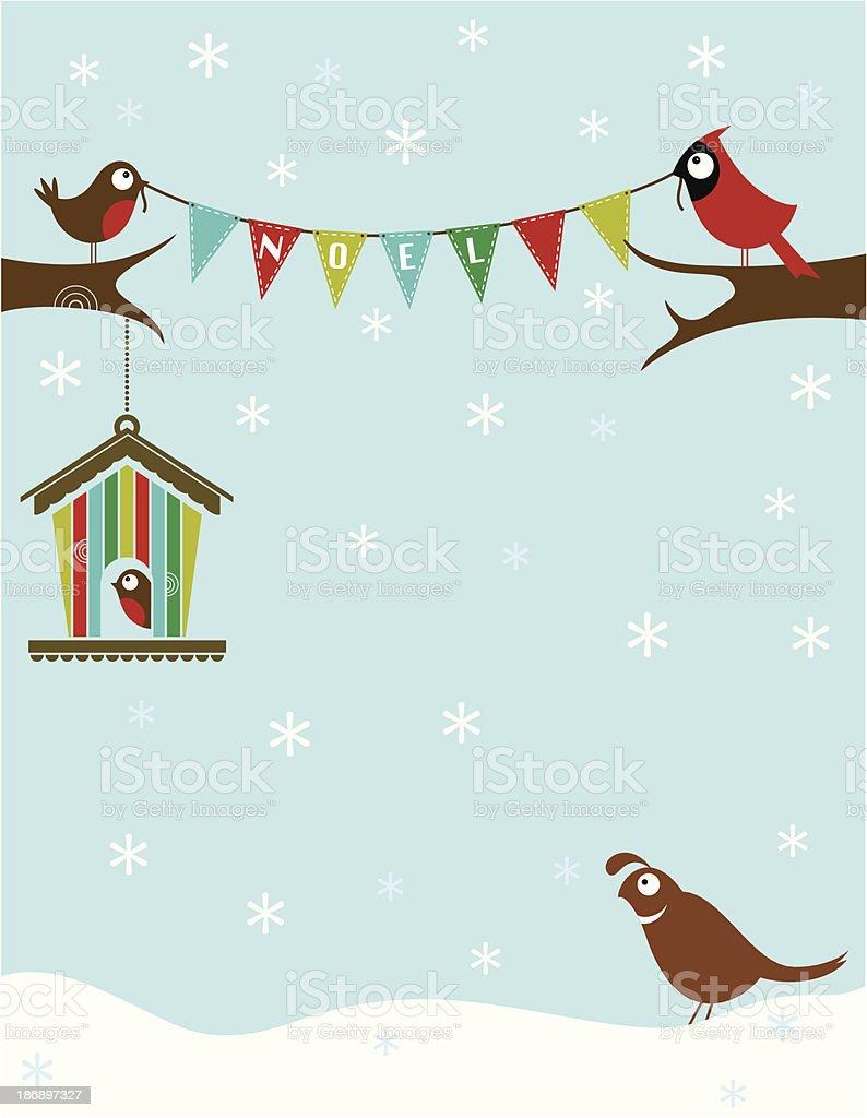 Christmas Birdies royalty-free stock vector art
