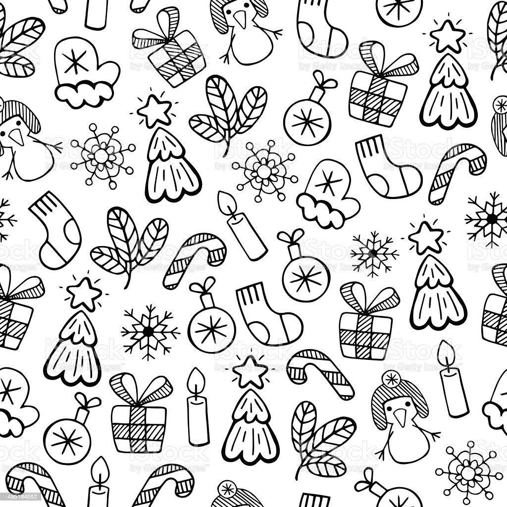 Новогодние картинки черно белые для лд, изготовление открыток ручной