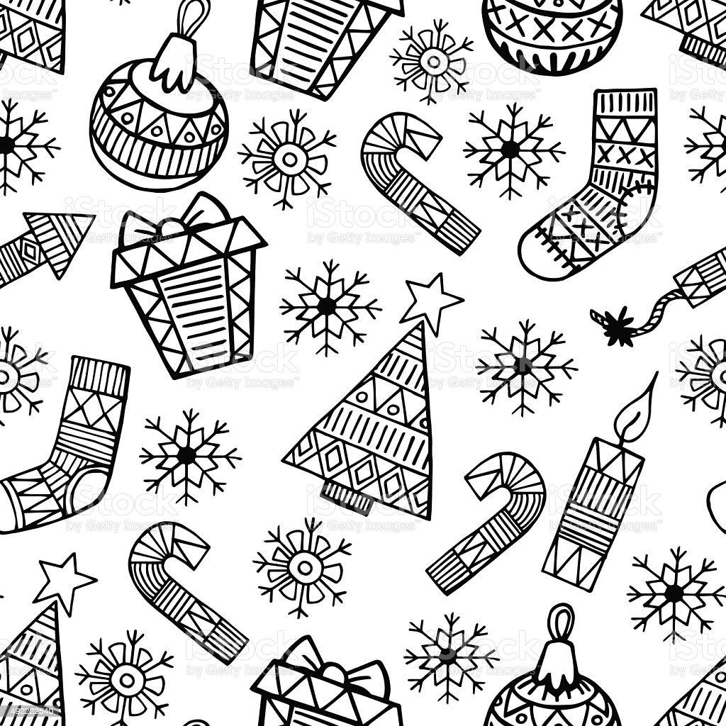 Новогодние картинки черно белые для лд, надписью