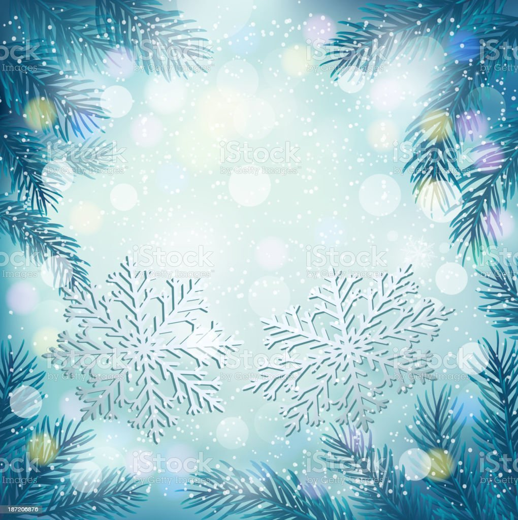 Christmas blue background royalty-free stock vector art