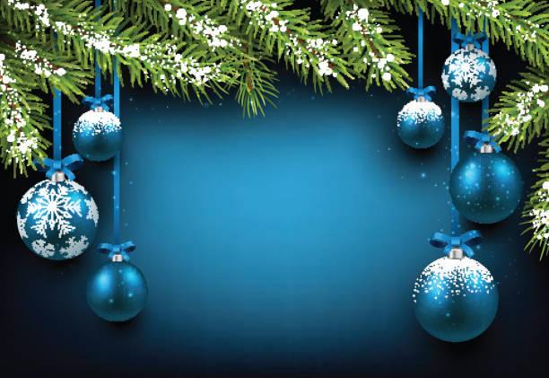 クリスマス青色背景 - 休日/季節ごとのイベント点のイラスト素材/クリップアート素材/マンガ素材/アイコン素材