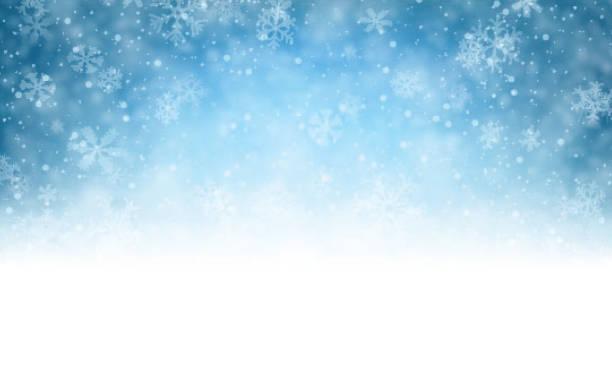 青色の背景に雪のクリスマス - 冬点のイラスト素材/クリップアート素材/マンガ素材/アイコン素材