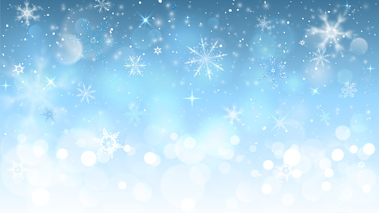 christmas blue background with snowflakes clipart