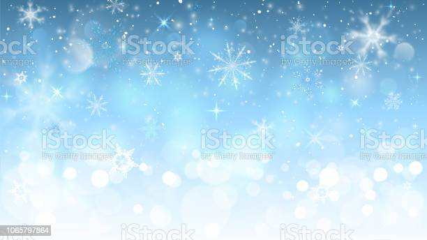 눈송이와 크리스마스 파란색 배경 겨울에 대한 스톡 벡터 아트 및 기타 이미지