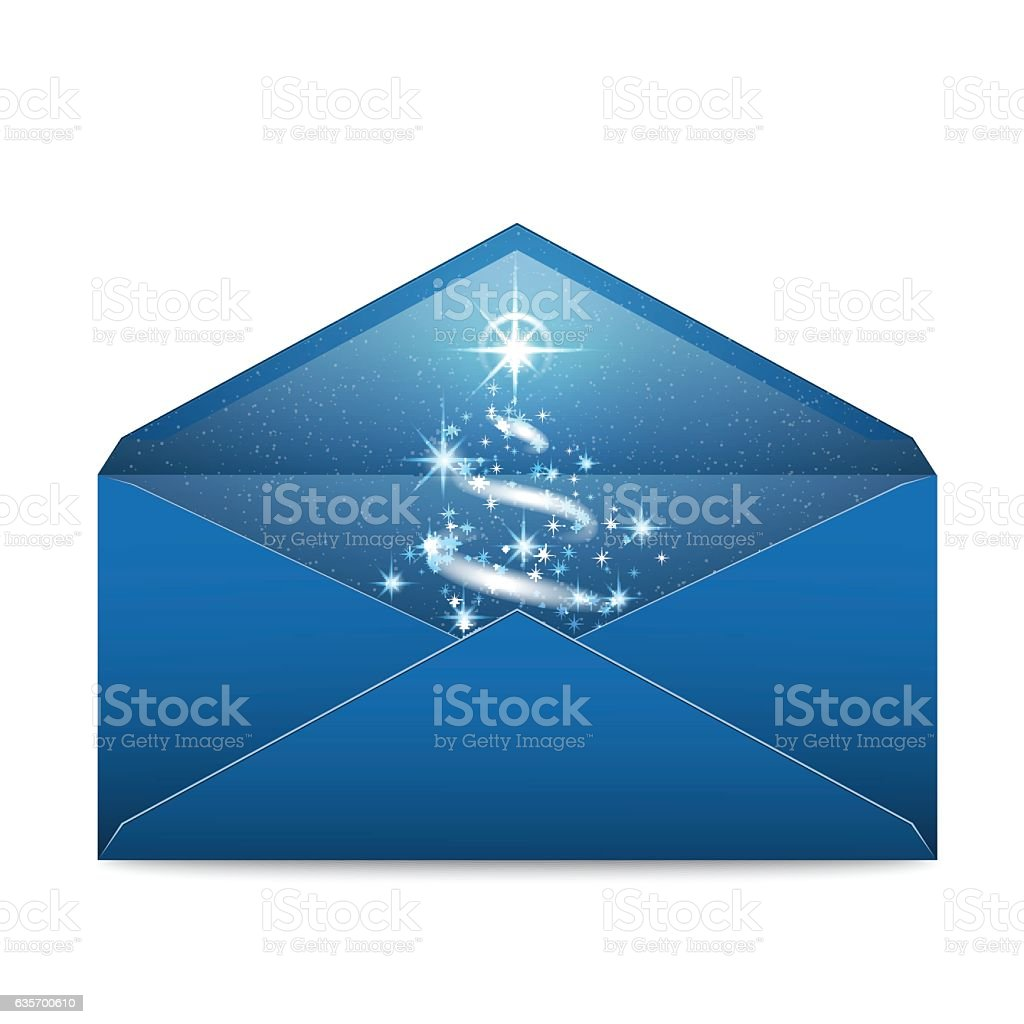 Christmas blue envelope with stars and blizzard royalty-free christmas blue envelope with stars and blizzard stock vector art & more images of blizzard