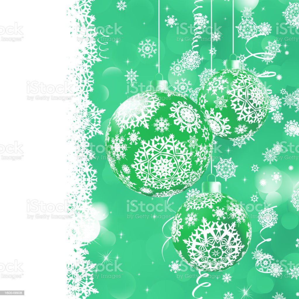 Christmas bokeh background with baubles. EPS 8 royalty-free stock vector art