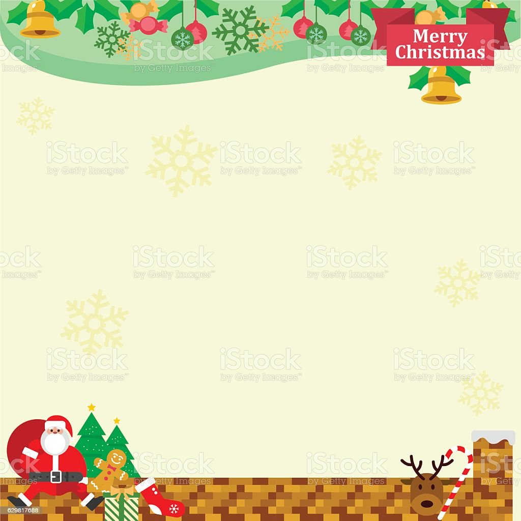 christmas border gold stock vector art more images of backgrounds