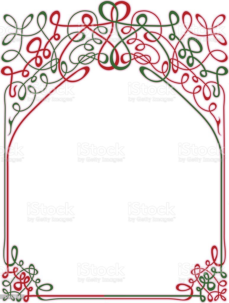 Christmas Border royalty-free stock vector art