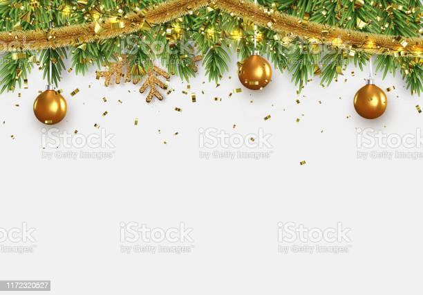 Christmas border with fir branches string lights garland and gold vector id1172320527?b=1&k=6&m=1172320527&s=612x612&h=tmwuvdntyragbe3xxnvohogxk2lpccawfdj0kyedciy=