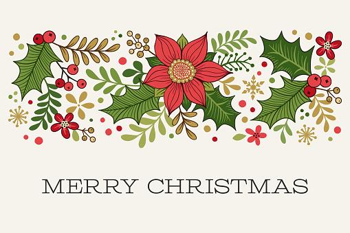 Christmas Border with Greeting