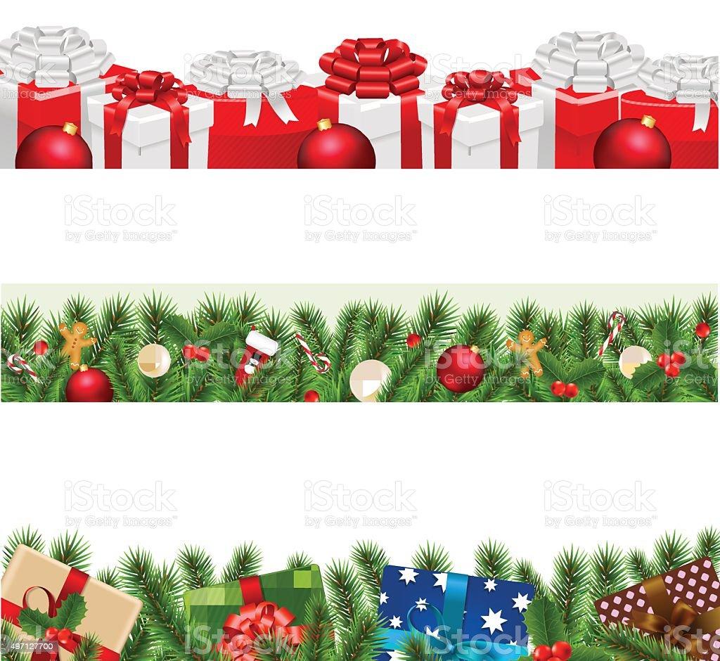 Christmas Boarders.Christmas Borders Big Set Stock Illustration Download Image Now