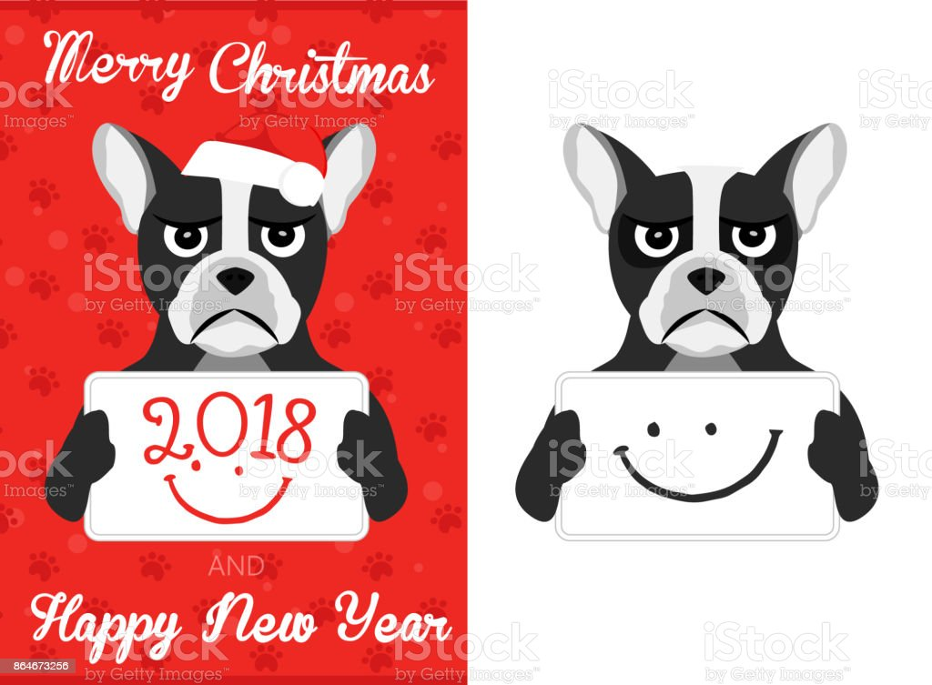 christmas boston terrier royalty free christmas boston terrier stock vector art more